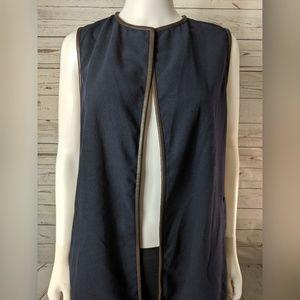 J. McLaughlin Jackets & Coats - J. McLaughlin Navy Blue Sullivan Vest